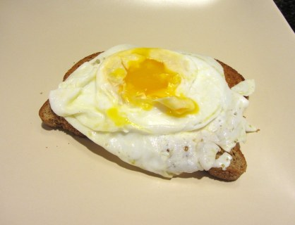 Duck Egg, Over-Easy on Toast