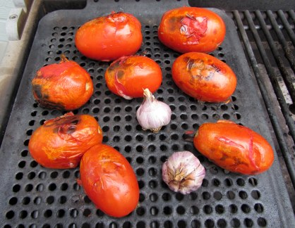 Tomatoes and Garlic on the Grill